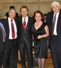 From left, John Levas, Paul Macropoulos, Peter Mesologites, Evangelia Cyprus, Ted Malgarinos and Andy Cyprus