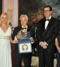 Dr. Stella Lymberis, Mr. Merkourios Angeliades, awarded as HMS NY 2012 Distinguished Hellene, Dr. Nicholas Mezitis, President of the Hellenic Medical Society, and Mrs. Roula Lambrakis