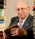 Michael A. Papadeas donated more than 100 Hellenic books to Randall Library at UNCW.