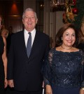 Their Royal Highness Crown Prince Alexander and Crown Princess Katherine of Serbia with NEO's Margarita Vartholomeou (right) and Mrs, Alkisti Prinou-Boukouvala.