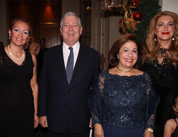 Their Royal Highness Crown Prince Alexander and Crown Princess Katherine of Serbia with NEO's Margarita Vartholomeou (right) and Mrs, Alkisti Prinou-Boukouvala.
