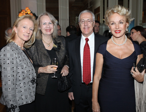 Mrs. Fleur Potamianos with Mrs. Liza Evert, Mr. Nikos Fronimopoulos and Mrs. Della Rounick