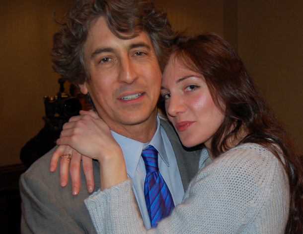 Alexander Payne with friend, actress Anna Rezan-Kritselis, Photo: ETA PRESS