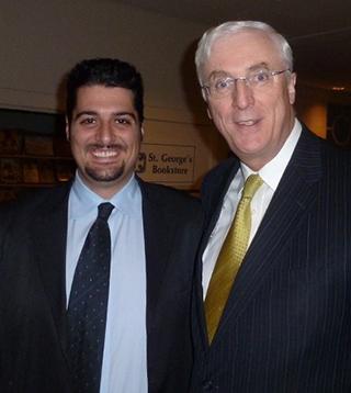 Ioannis Sarantopoulos with Ambassador Collins