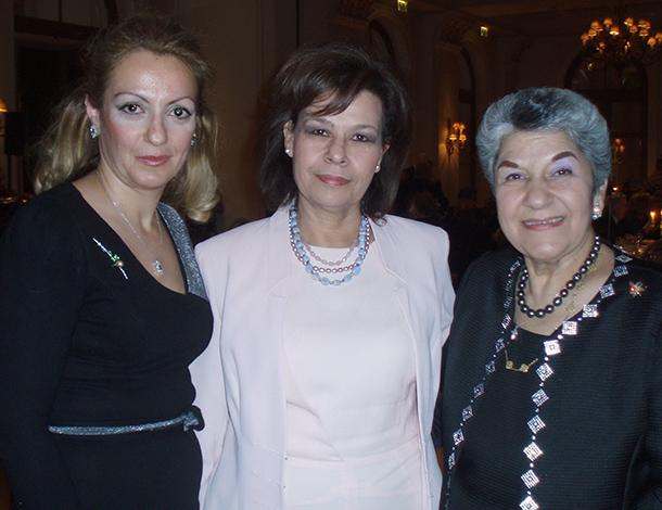 NEO's Margarita Vartholomeou, Member of Parliament Asimina Skondra and Stella Kokolis