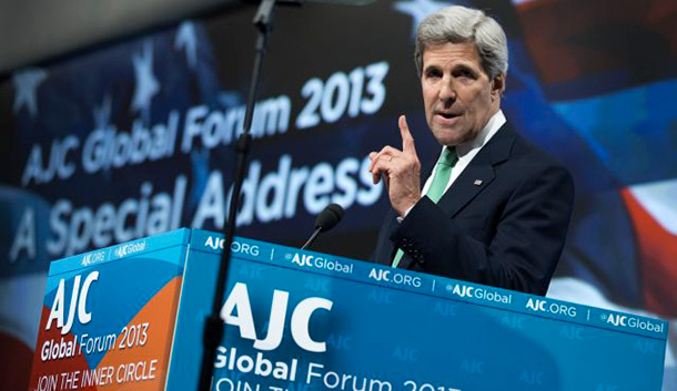Secretary of State John Kerry addressing the forum