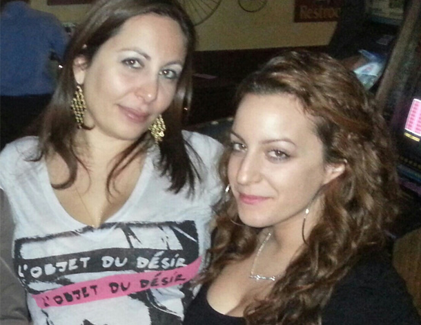 Georgia Sideris with cousin Eleni Skaris
