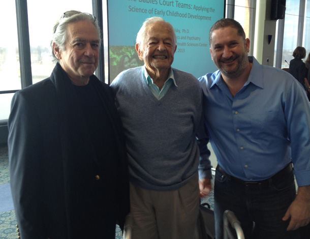 From left, Dr. Ed Tronick, Dr. Berry Brazelton and Dr. Neophytos Papaneophytou