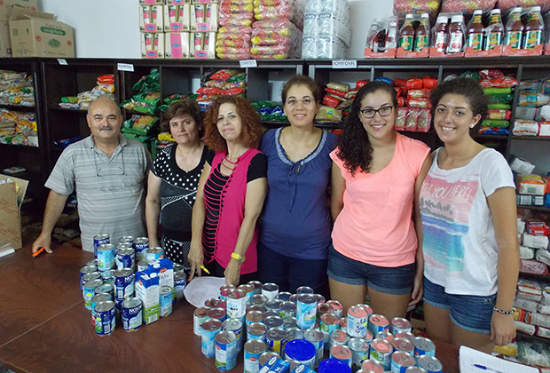 The core volunteers with the author and her sister: Antonis Hadjiantonis, Eleni Efthimiou, Rea Hadjiharalambous, Anna Amyrotou, Alexa Nicolaou, Elena Nicolaou