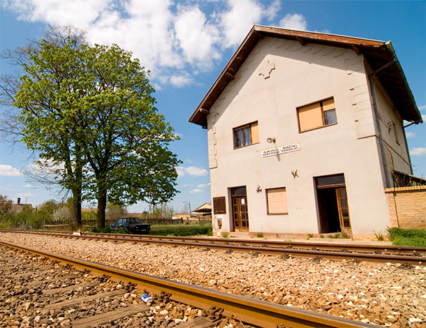 The Bulkes Train Station, arrival and dispatch point for Greeks in the secret community.  Photo by Georgios Makkas, grandson of the famous Greek playwright and author Alexis Parnis, who as a Greek Communist guerilla spent a good deal of time in Bulkes.