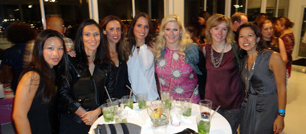 Joyce T., Melissa Castro, Sofia Zimmar, Athena Kontoyannis, Beth Frank, Kim Dreyer, Zandra Kambysellis. PHOTO: ELENI KOSTOPOULOS