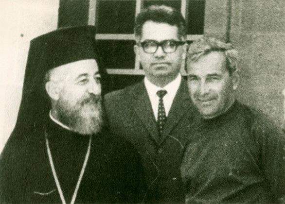 Alexis Parnis with Archbishop and President of Cyprus Makarios.