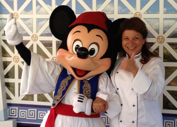 Argiro Barbarigou with Mickey Mouse