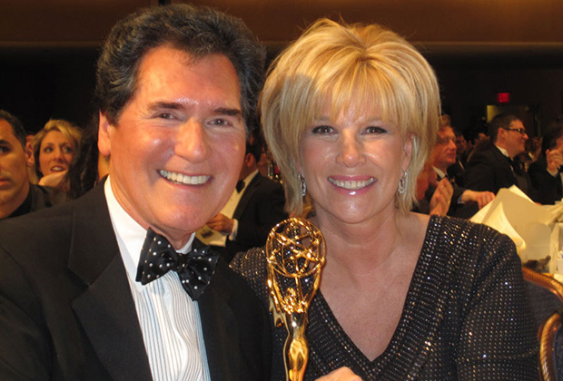 Lifetime Emmy Award presented to Ernie Anastos by former Good Morning America host JoN Lunden