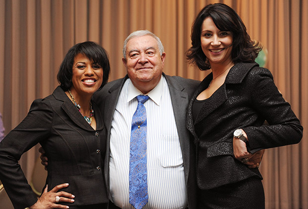 Mayor Stephanie Rawlings-Blake, Aris Melissaratos, Deputy Mayor Kaliope Parthemos.