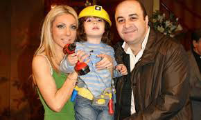 Markos Seferlis with wife Elena and son Haris