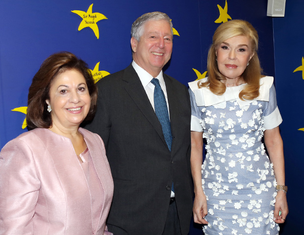 Their Royal Highnesses Crown Prince Alexander and Crown Princess Katherine with Mrs. Marianna Vardinoyannis, UNESCO Ambassador of Good will