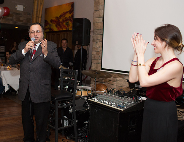 National Chairman and President of the Cyprus Children's Fund Mr. Savas Tsivicos and CYP President Laura Neroulias, PHOTO: VINCENT TULLO
