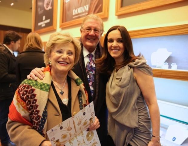From left, Hara & Mike Bosch with Elena Syraka, PHOTO: WENDY PLOGER