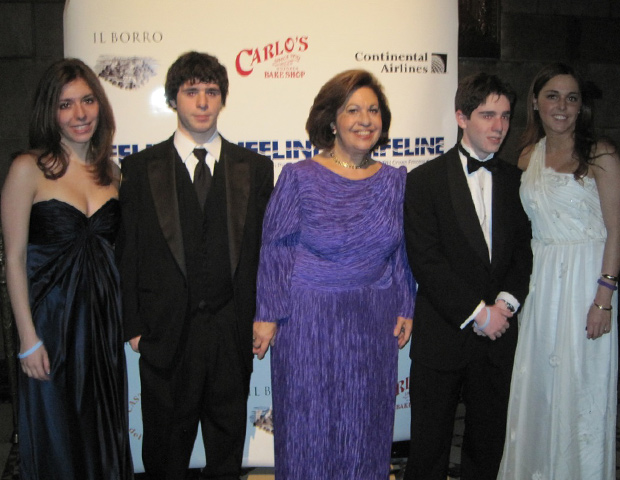 Lifeline Charity event in New York with grandchildren Amanda, Stephanie, Michael and Nicholas