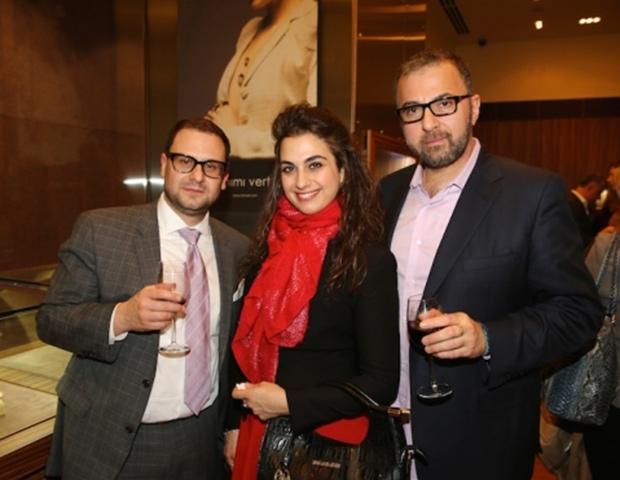 Luis Torres, Sofia Antonakos, Ilias Verras, owner of Hellenis Jewelry, PHOTO: WENDY PLOGER