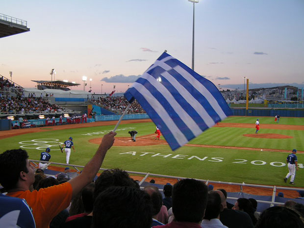 Greece vs Cuba game in the Athens 2004 Olympics