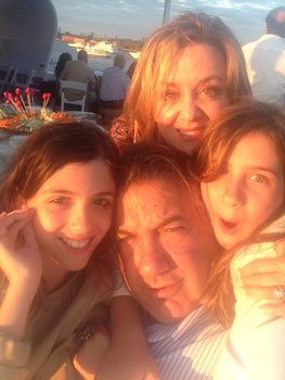 Constance Koudounis (Daughter), Joanne Koudounis (Wife), Demi Koudounis (Daughter), John Koudounis