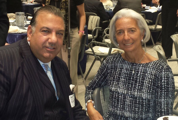 John Koudounis, Christine Lagarde