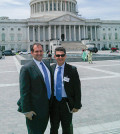 Costi Sofocleous (right) with Endy Zemenides, Executive Director of HALC, in front of the Capitol, during the recent PSEKA conference