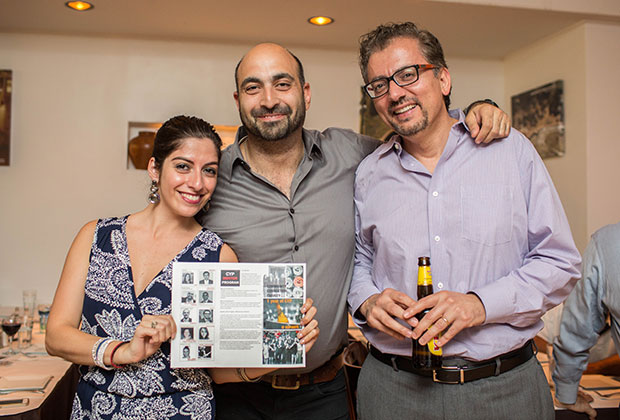 Laura Neroulias, Demetrios Comodromos and Nicolas Nicolaou - PHOTO: VINCENT TULLO