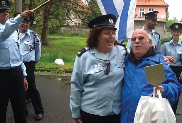 Dahlia, a Greek-Jew, of Israel's police with Prof. Asher J. Matathias