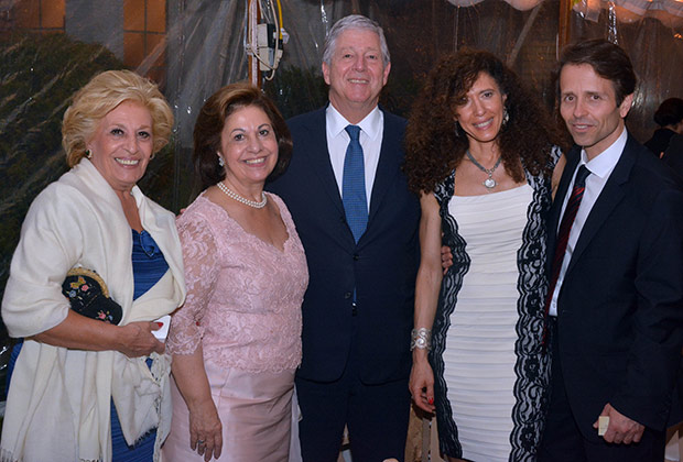 Prince Alexander, Princess Katherine and her Sister with Dr. and Mrs. Smith, the hosts of the benefit dinner