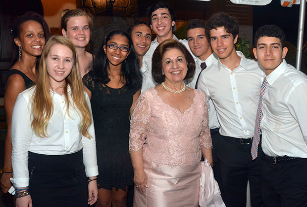 Princess Katherine with boys & girls who helped at the event