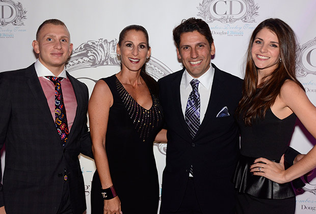 The Colombos-Dooley Team at Douglas Elliman Alessandro Troia, Angela Dooley, Nicholas Colombos and Casey Markowski