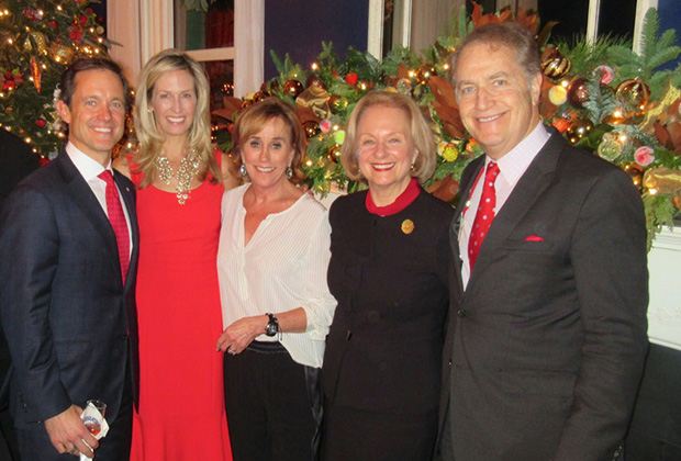 The Manatoses with the Vice President's sister, Valerie Biden Owens. From left, Mike & Laura Manatos, Valerie Biden Owens, Tina & Andy Manatos