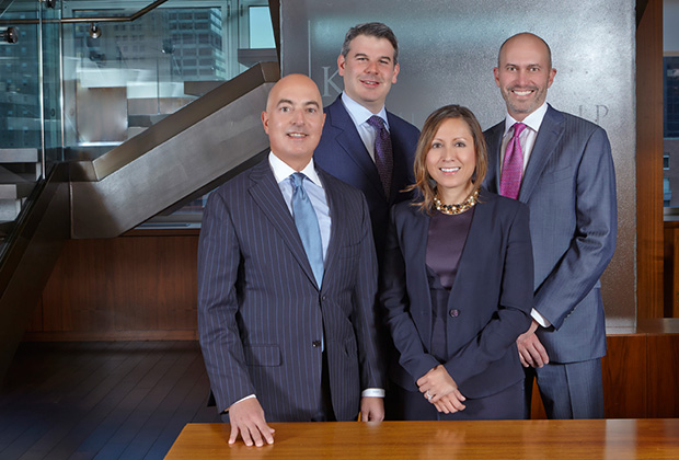 The KPS Partners: From left, Michael Psaros, Jay Bernstein, Raquel Palmer and David Shapiro; PHOTO: ANASTASIOS MENTIS