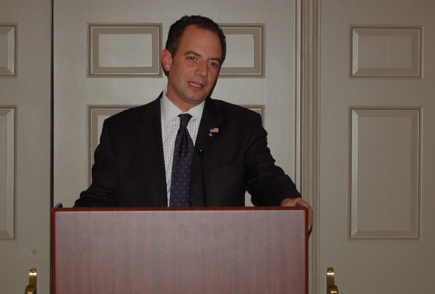 Reince Priebus, Chairman Republican National Committee addressing the PSEKA conference in Washington. PHOTO: DEMETRIOS RHOMPOTIS