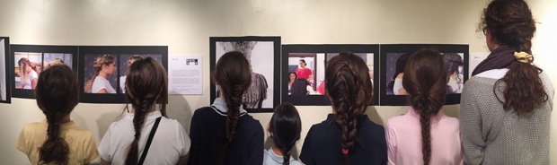 Middle School Classics Students Visit the Caryatid Hairstyle Photography Exhibit, at Greek Consulate, with Professor Katherine Schwab, Fairfield University.