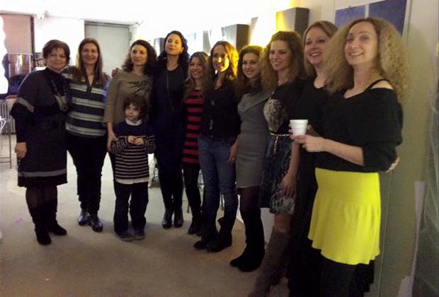 The school's teachers. From left,Antonetta Varsami, Antonia Papatzanaki, Dora Fiotodimitrakis, Iapetos Zoulakis, Andreea Popa (supporter), Angella Fiotodimitrakis, Maria Clironomos (supporter), Vivian Triviza, Demetra Varsami, Alexandra Skendrou, Ioanna Katsarou