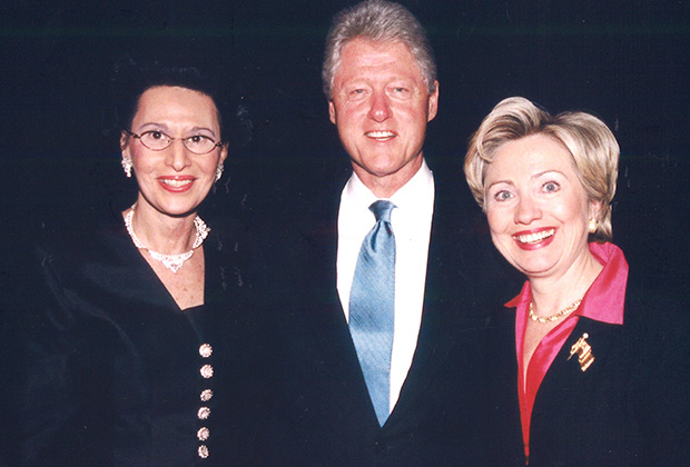 With President Bill Clinton and Hillary Clinton