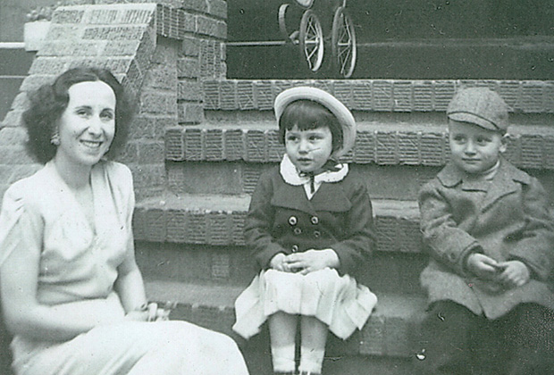 Paulette with her mother Rebecca Poulos and her brother Peter Poulos