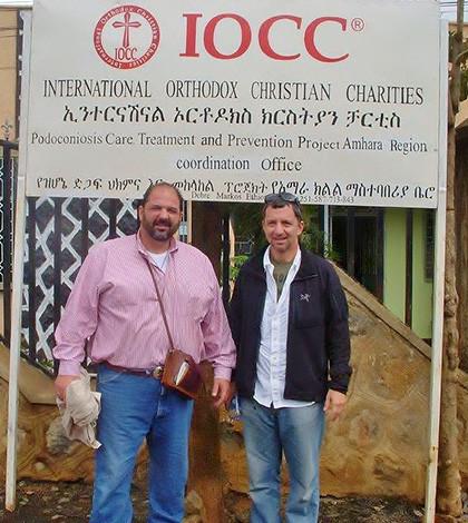 IOCC Executive Director & CEO Constantine Triantafilou (left) with Mark Stavropoulos, IOCC Chairman of the Board