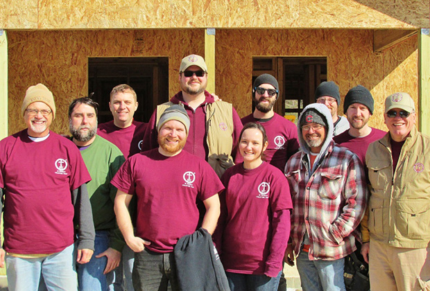 Seminary students from across the US came together as an IOCC Orthodox Action Team to help rebuild storm-damaged homes for families in New Orleans. IOCC Orthodox Action Teams provide Orthodox faithful in North America with an opportunity to put their faith into action in the service of families recovering from disasters. (photo: IOCC)