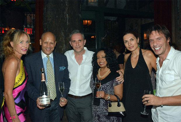 From left, Katerina Yatzoglou, Mario Rinaldi, Ioannis Pappos, Naz Rinaldi, Chryssa Avrami and Stratos Tzortzoglou