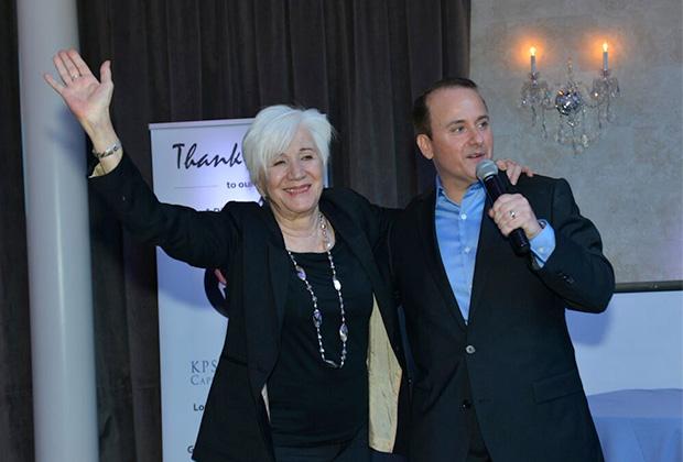 Nick Katsoris with honored guest Olympia Dukakis, PHOTO: JILLIAN NELSON