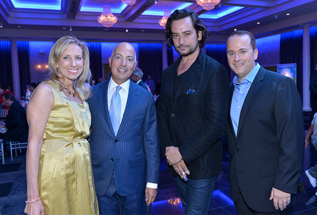 Robin and Mike Psaros, Constantine Maroulis and Nick Katsoris, PHOTO: JILLIAN NELSON