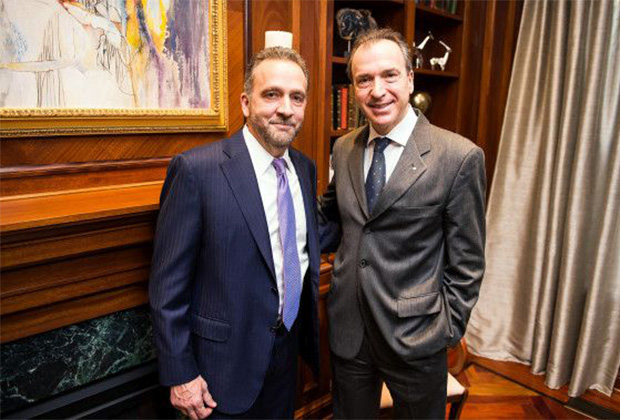 George Pelecanos with Amb. Panagopoulos earlier this year in D.C.