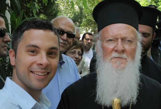 Valantis Stamelos with Ecumenical Patriarch Bartholomew