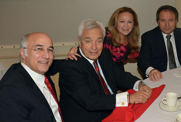 Dimitri Dellis, Mike Angeliades, Mrs. & Mr. Gus Bennetos, PHOTO: ETA PRESS
