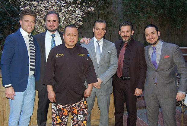 The Avra Managers: Joe Caridi, Arturo Cortes, Nikos Nikolopoulos, Stelios Tsappas, Michalis Kasimis and Chef Fermin Chavez